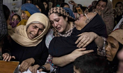 Relatives mourn