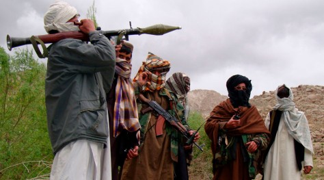 Taliban militants are seen in an undisclosed location in Afghanistan in this picture released to Reuters May 9, 2009. Picture taken May 8, 2009. REUTERS/Stringer (AFGHANISTAN CONFLICT POLITICS IMAGES OF THE DAY) - RTXF64I